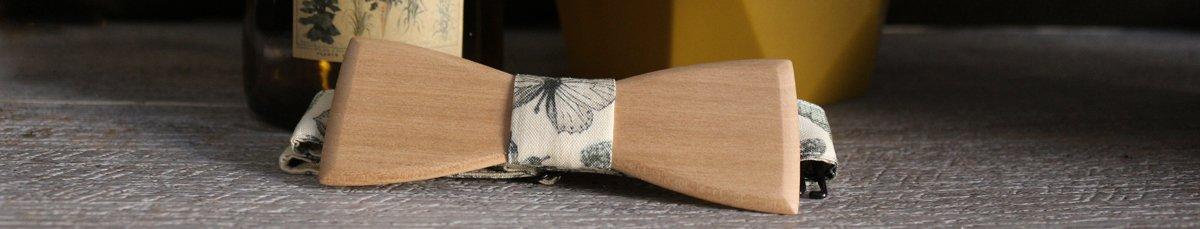 Noeuds papillon en bois - L'Original