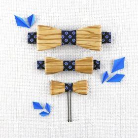 Barrette noeud sur mesure en bois