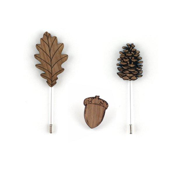 épingles et boutonnières en bois pour homme et enfant